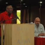 Aristóbulo Istúriz y Francisco Ameliach en la reunión con los Jefes de la Gran Maquinaria Roja.