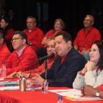Chávez y la Dirección Nacional del PSUV. Foto: Archivo