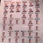 Versión preliminar de la Boleta Electoral para las elecciones presidenciales del 7 de octubre. Foto: PG