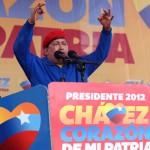 El candidato presidencial Hugo Chávez en Valencia, capital del estado Carabobo. Foto: AVN