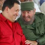 Comandante y Fidel y Comandante Chavez