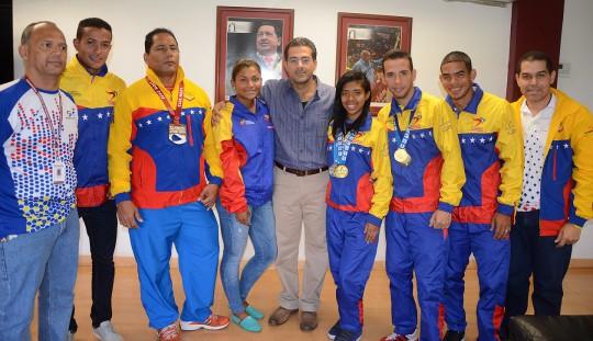 Gobierno Bolivariano de Carabobo recibió campeones mundiales