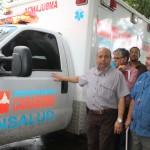 Hospital Dr. Carlos Sanda recibió nueva ambulancia y equipo Rx