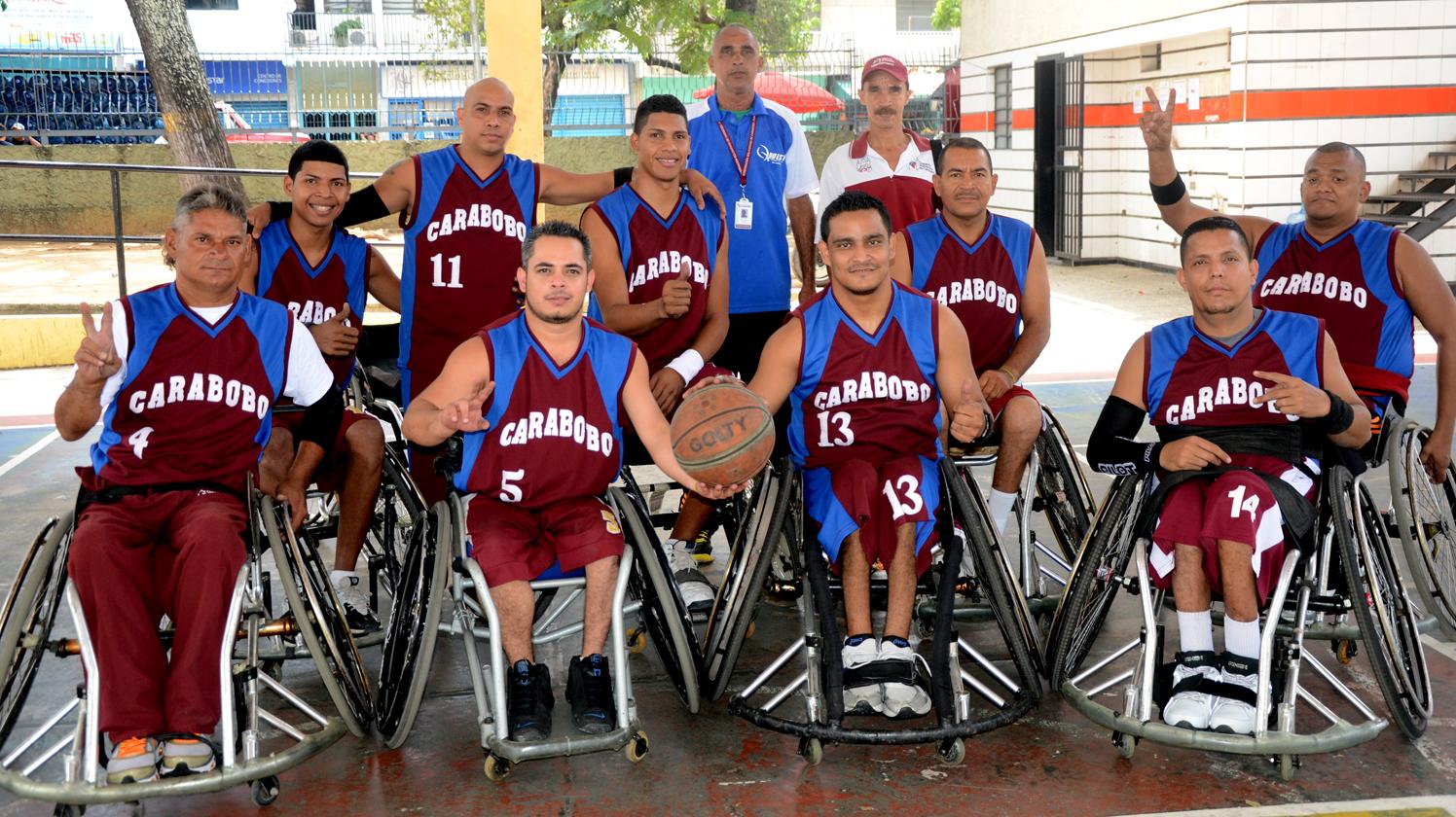 Carabobo y lara disputaron amistosos de baloncesto sobre silla de rueda francisco ameliach - Baloncesto silla de ruedas ...