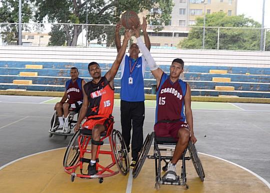 Carabobo  y Lara disputaron amistosos de baloncesto sobre silla de rueda