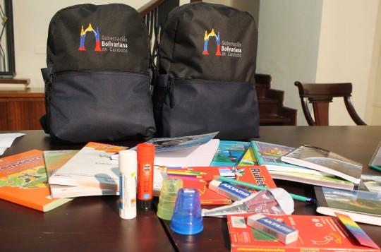 alumnos de escuelas estadales recibirán útiles escolares