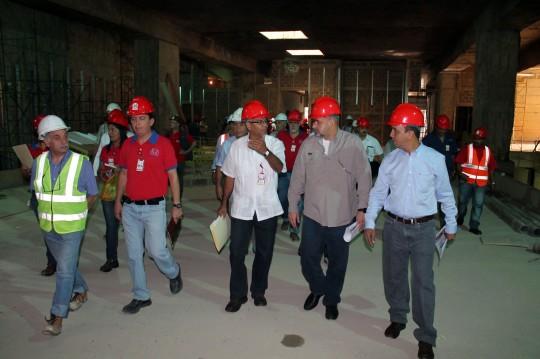 Ameliach inspecciona obras del Metro y anuncia culminación de trabajos en avenida Bolívar
