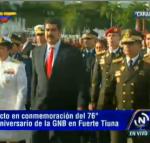 Guardia Nacional conmemora sus 76 años en Fuerte Tiuna