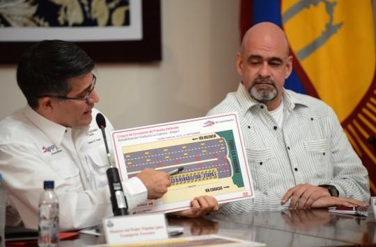 Este miércoles reinician labores  de rehabilitación en viaducto La Cabrera