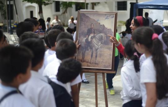 Creación del pintor Arturo Michelena  se expuso en la plaza Sucre