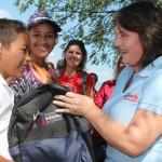 """Niños con diversidad funcional  recibieron """"Morrales de la Patria"""""""