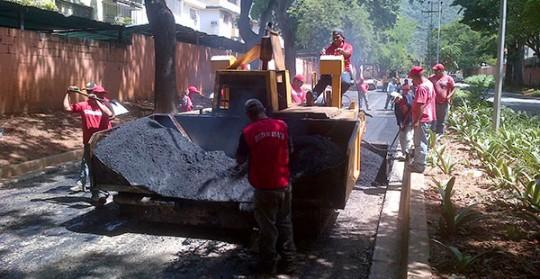 Gobierno regional rehabilita vialidad  en avenida 138 - B del Trigal Centro