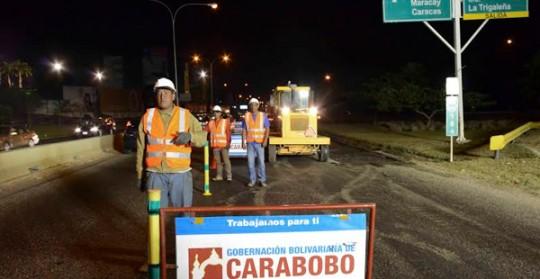 Gobernación de Carabobo inició rehabilitación de Autopista del Este