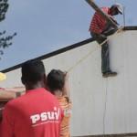 Comunidad de Los Naranjos trabaja en construcción de su base de Misiones
