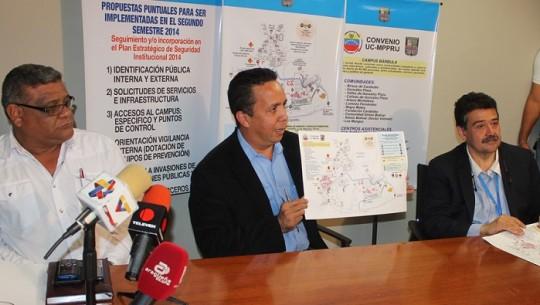 Gobernación y UC comparten plan de acción Para combatir inseguridad en Campus Bárbula