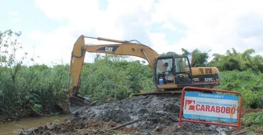 Gobernación ejecutó saneamiento  de río Guaparo en Libertador
