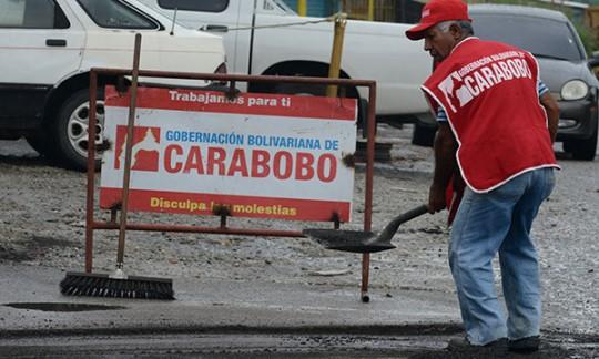 Gobernación inició en El Socorro  Plan de Asfaltado Carabobo 2014