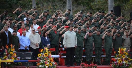 Presidente Maduro realizó salutación de fin de año a FANB desde Campo de Carabobo