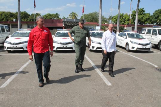 Cuerpos policiales de región central Recibieron 8 nuevas patrullas