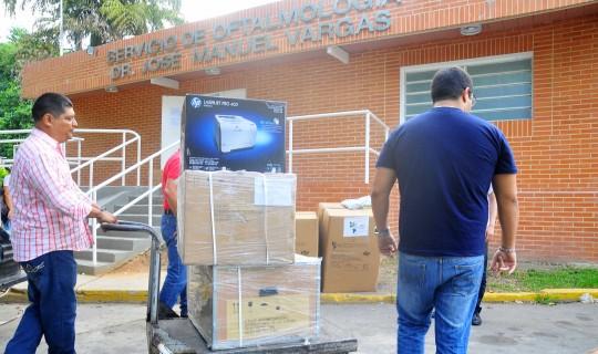 Oftalmología de la Chet recibió equipos de alta tecnología e insumos