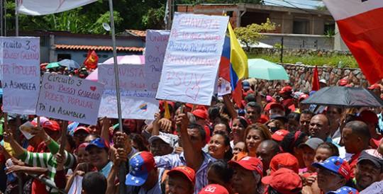 Pueblo chavista de Carabobo apoya a candidatos de la patria