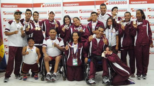Carabobo comenzó Paranacionales con 14 doradas