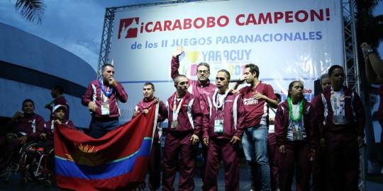 Carabobo recibió a sus campeones paranacionales a lo grande