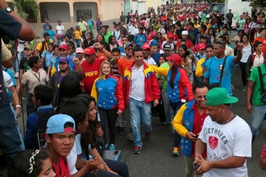 Gran caminata de la juventud en respaldo a candidatos de la Patria por el circuito 5