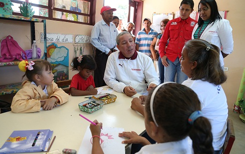 """Gobernación de Carabobo rehabilitó preescolar en U.E. """"Cocorote"""" de Carlos Arvelo"""