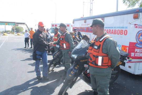Gobierno de Carabobo refuerza puntos de control para feliz retorno de temporadistas