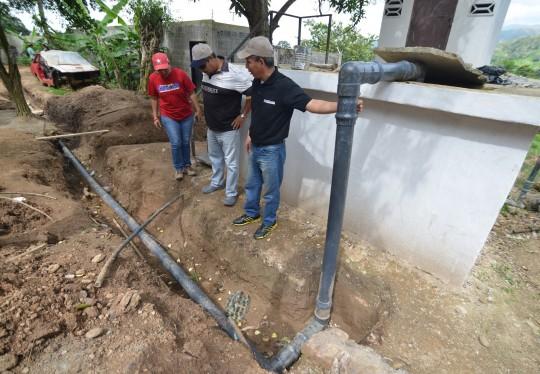 Reparamos red de agua en caserío Mocundo de Montalbán