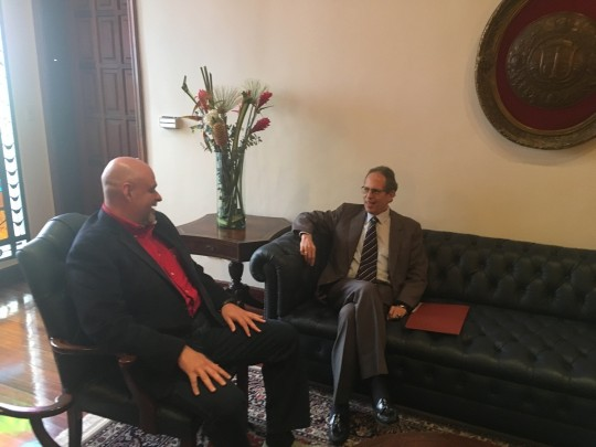 Recibimos en Capitolio al presidente de Academia de Historia