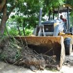 Despejamos vías  afectadas por lluvias en Morón