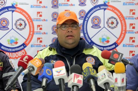 Desplegamos personal de rescate para atender afectaciones por lluvias en Carabobo