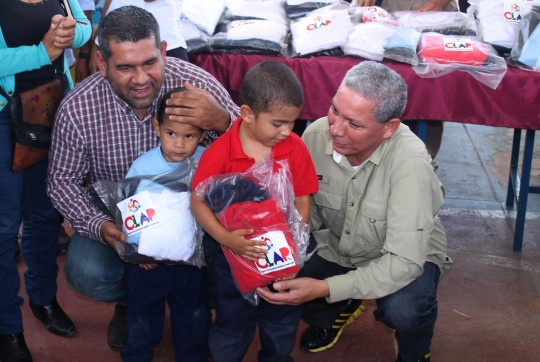 Con CLAP Textil beneficiaremos 125 mil niños  de planteles educativos carabobeños