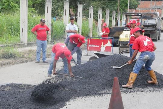 Hemos colocado en cuatro años más de 218 mil toneladas de asfalto