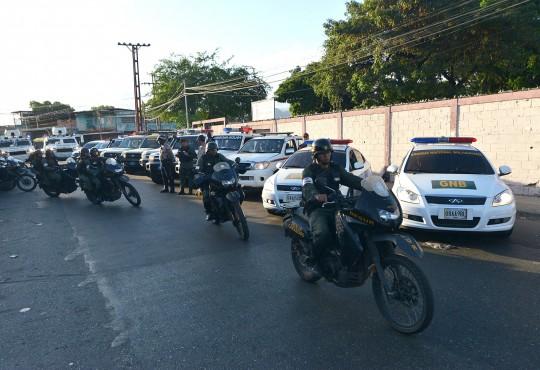 Desplegado en Miguel Peña  Operativo especial de seguridad