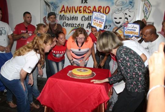 Celebramos el noveno aniversario de Misión Cultura  impulsando políticas revolucionarias